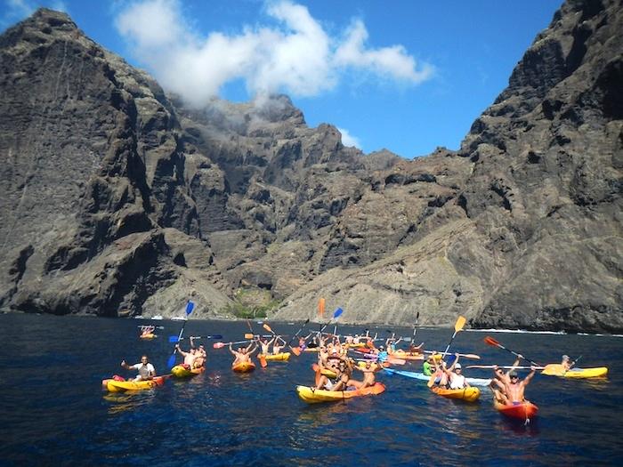 Excursion Kayaking & cetacean watching at los gigantes cliffs and masca