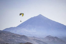 Tandem paragliding over tenerife